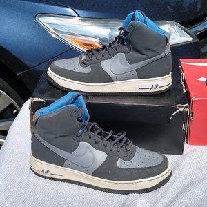 Nike air force one grey blue white af1 high